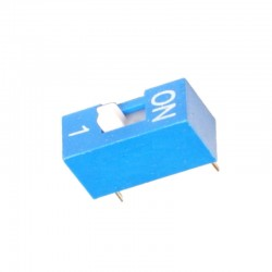 Chave Dip Switch 1 Via 180 Graus (KF1001-01)
