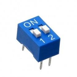 Chave Dip Switch 2 Vias 180 Graus (KF1001-02)