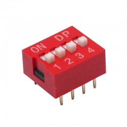 Chave Dip Switch 4 Vias 180 Graus (KF1001-04)