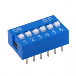Chave Dip Switch 6 Vias 180 Graus (KF1001-06)