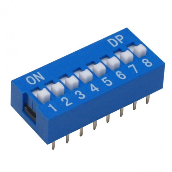Chave Dip Switch 8 Vias 180 Graus (KF1001-08)