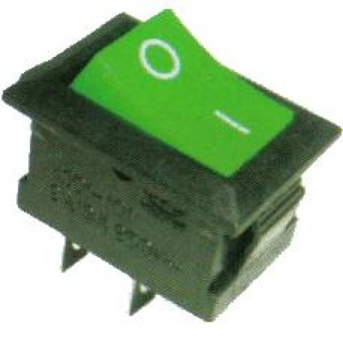 Chave Gangorra KCD1-101 Verde 2 Terminais