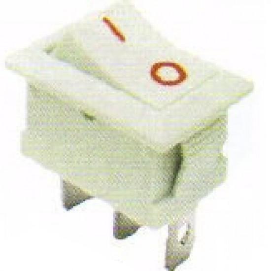 Chave Gangorra KCD1-102 Branca  3 Terminais Com Marcação