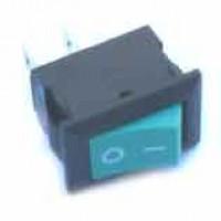 Chave Gangorra KCD11-101 Verde  2T 3A 250V (Mini L/D)