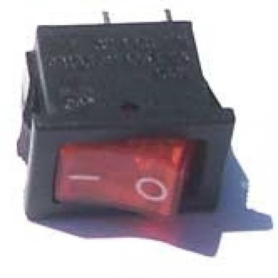 Chave Gangorra KCD11-101 Vermelha 2T 3A 250V (Mini L/D)