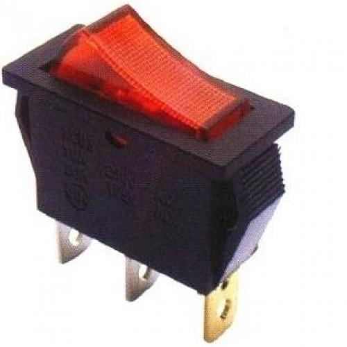 Chave Gangorra KCD3-102N Vermelha Com Neon Sem Marcação