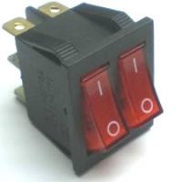 Chave Gangorra KCD3-202N Vermelha C/ Neon