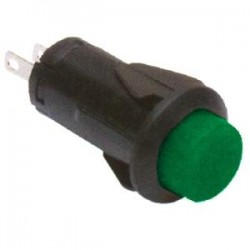 Chave PBS-27B Verde 2T Sem Trava (Tipo Push Button)