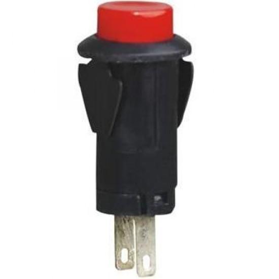 Chave PBS-27B Vermelha 2T Sem Trava (Tipo Push Button)