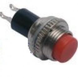 Chave Push Button DS-314 Sem Trava Vermelha