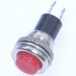 Chave Push Button DS-316 Sem Trava Vermelha