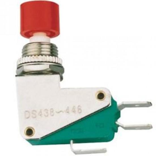 Chave Push Button DS-438 Sem Trava Vermelha