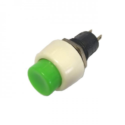 Chave Push Button DS-450 Verde Com Trava