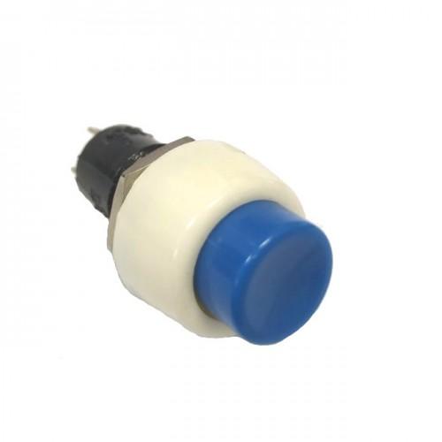 Chave Push Button DS-451 Sem Trava Azul 2T
