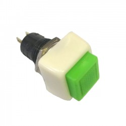 Chave Push Button DS-460 Com Trava Verde 2T