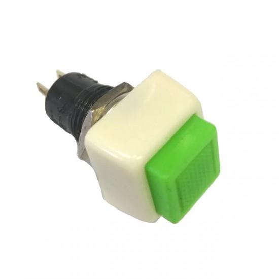 Chave Push Button DS-460 Com Trava Verde 2T