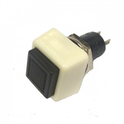 Chave Push Button DS-461 Sem Trava Preta 2T