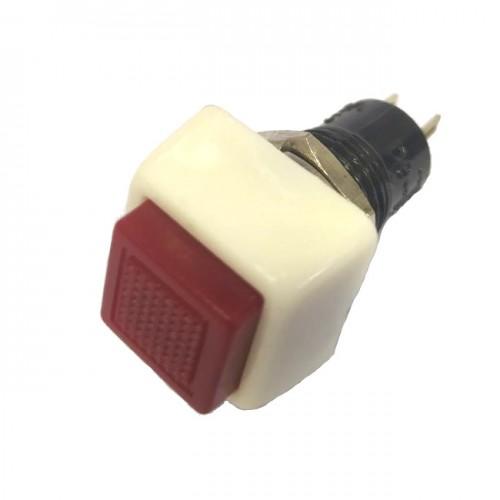 Chave Push Button DS-461 Sem Trava Vermelha 2T