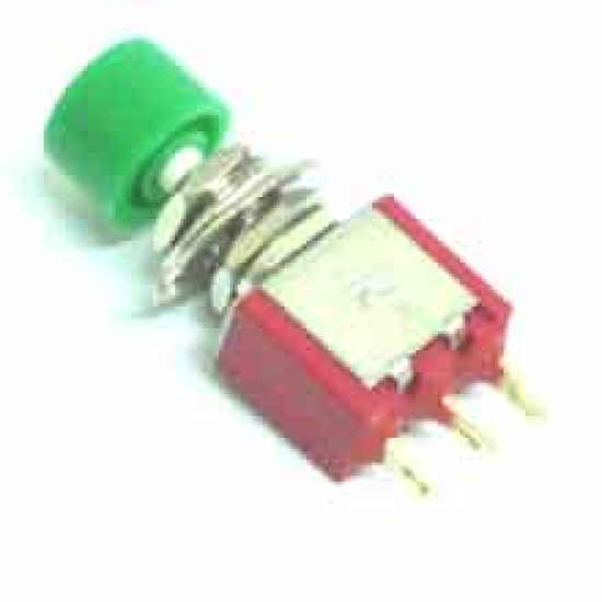 Chave Push Button DS-612 Sem Trava Verde