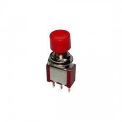 Chave Push Button DS-612 Sem Trava Vermelha