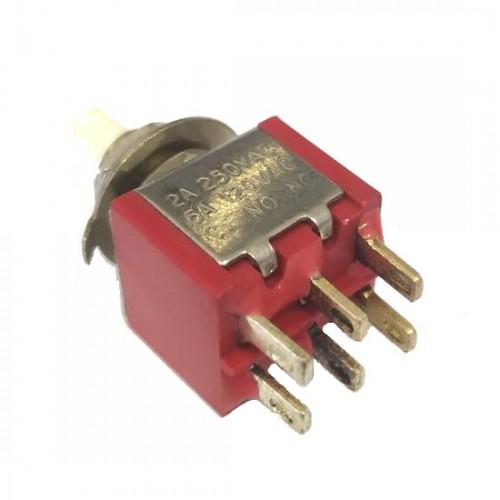Chave Push Button DS-622 Sem Trava Vermelha