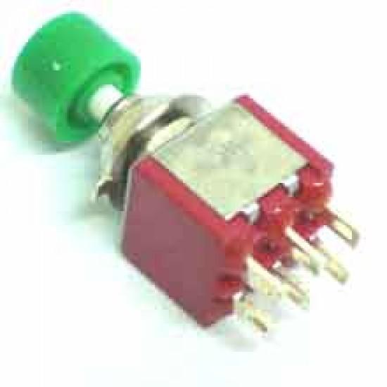 Chave Push Button DS-622 Sem Trava Verde