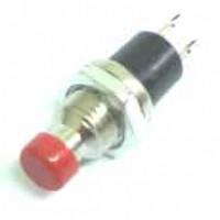 Chave Push Button PBS-110 Sem Trava Vermelha