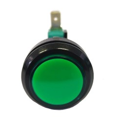 Chave Push Button PBS-30 Sem Trava Verde