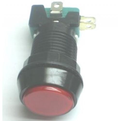 Chave Push Button PBS-30 Sem Trava Vermelha