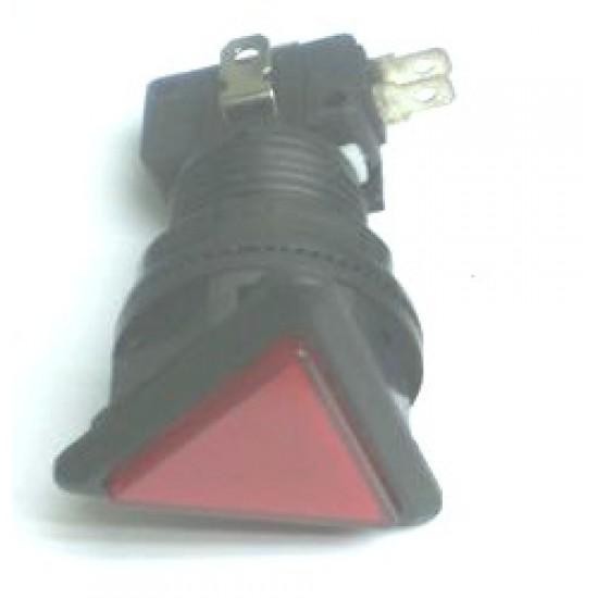 Chave Push Button PBS-33 Sem Trava Vermelha