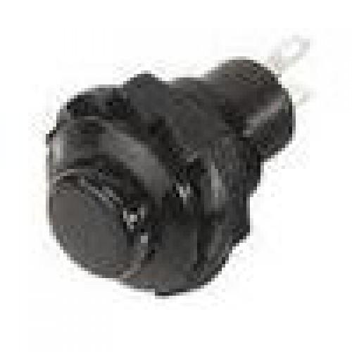 Chave Push Button R13-502 Sem Trava Preto