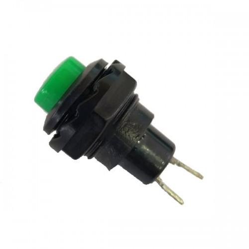 Chave Push Button R13-502 Sem Trava Verde