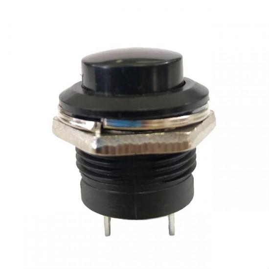 Chave Push Button R13-507 Sem Trava Preta
