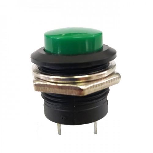 Chave Push Button R13-507 Sem Trava Verde