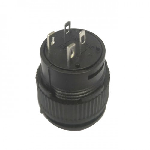 Chave Push Button R16-503BD Sem Trava Com Led Vermelha 4T
