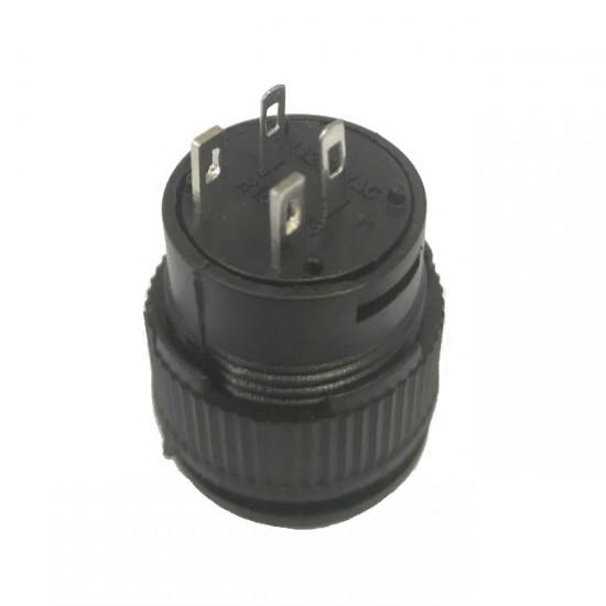 Chave Push Button R16-503BD Sem Trava Com Led Verde 4T
