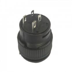 Chave Push Button R16-503BD Sem Trava Com Led Amarela 4T