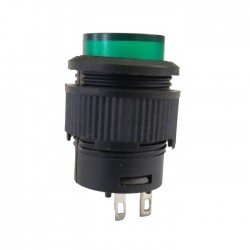 Chave Push Button R16-503A Com Trava Sem Led Verde 2T