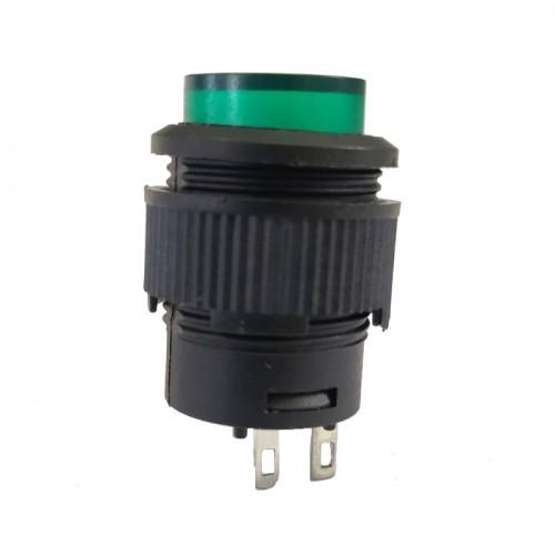 Chave Push Button R16-503A Com Trava Sem Led Verde 2T