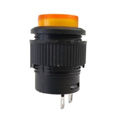 Chave Push Button R16-503B Sem Trava Sem Led Amarela 2T