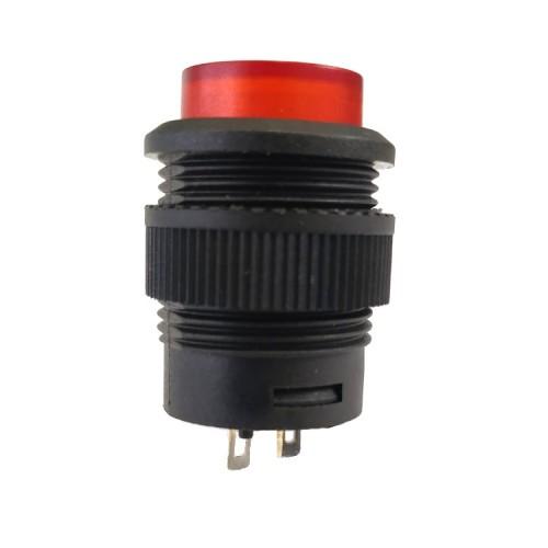 Chave Push Button R16-503B Sem Trava Sem Led Vermelha 2T