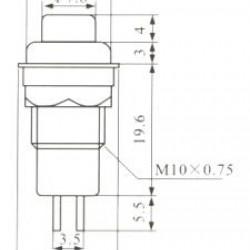 Chave Push Button DS-211 Com Trava Verde