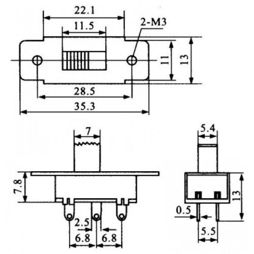 Chave HH Pequena Sem Rosca Com Alavanca (SS22F25 G10)