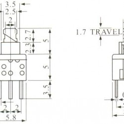 Chave Botão 5,8x5,8 Mm Sem Trava