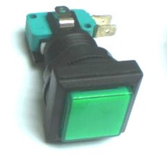 Chave Push Button PBS-31 Sem Trava Verde