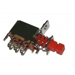 Chave tecla A03-3 Vermelha com trava 6 terminais