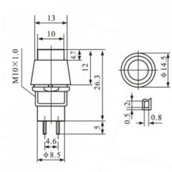 Chave PBS-11A Vermelha Com Trava (Tipo Push Button)