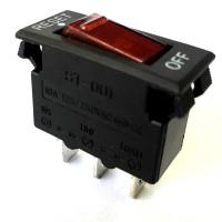 Chave Gangorra Dijuntor ST-001 Vermelha Com Led 3T