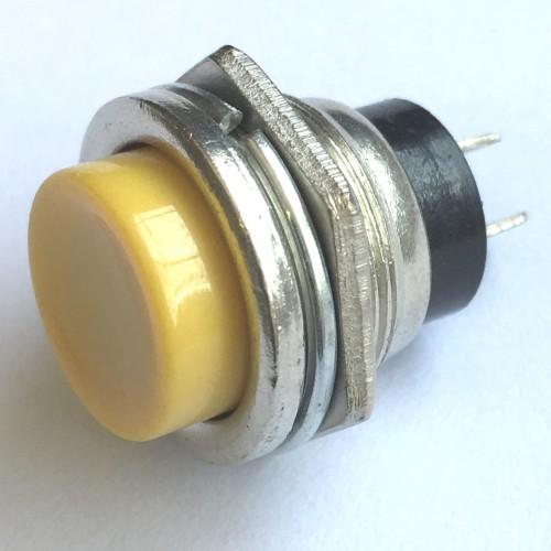 Chave Push Button DS-212 Sem Trava Metal Amarela
