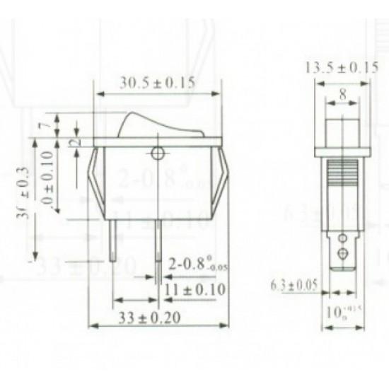 Chave Gangorra KCD3-101 Preta